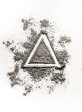 递图画例证概念在灰,尘土, d的三角形状 图库摄影