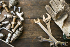递工具箱或工作工具箱背景,在产业工作的工具普通工作或坚苦工作的 设备私有保护 库存照片
