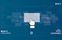 递按长方形按钮的图标 免版税库存图片