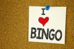 递文字文本显示宾果游戏概念意思字法的说明启发赌博赢取价格成功和爱写在st 库存照片