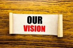 递文字文本显示我们的视觉的说明启发 在稠粘的笔记pa写的销售方针视觉的企业概念 库存图片