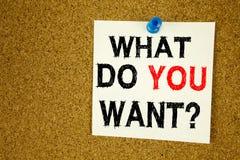 递文字文本说明启发显示问题什么您想要概念意思目标刺激计划并且爱书面stic 免版税库存照片