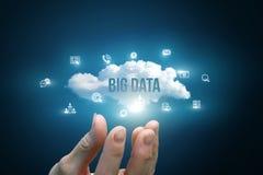 递显示与词大数据的一朵云彩 免版税库存照片