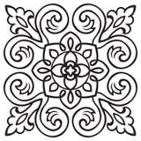 递瓦片的图画样式在黑白颜色 意大利色彩强烈样式 向量例证
