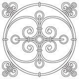 递瓦片的图画样式在黑白颜色 意大利色彩强烈样式 库存例证