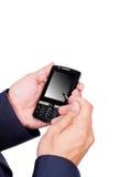 递移动电话工作 免版税图库摄影