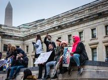 递解怨恨-妇女3月-华盛顿特区 免版税库存图片