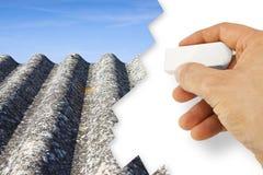 递-去除石棉的石棉自由概念图象-一个o 图库摄影