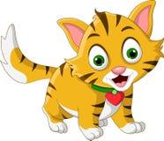 逗人喜爱一点猫动画片摆在 免版税图库摄影