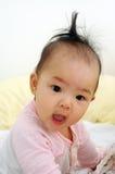 逗人喜爱亚裔的婴孩 库存照片