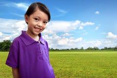 逗人喜爱亚裔的子项 免版税库存照片
