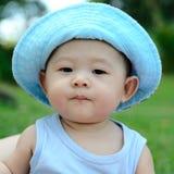 逗人喜爱亚裔的男婴 图库摄影
