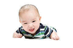 逗人喜爱亚裔的男婴 免版税库存图片