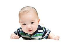 逗人喜爱亚裔的男婴 免版税库存照片