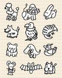 逗人喜爱动物的动画片 库存照片