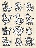 逗人喜爱动物的动画片 图库摄影