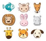 逗人喜爱动物的动画片 免版税图库摄影
