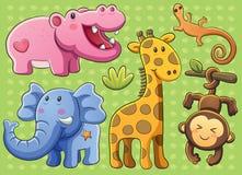 逗人喜爱动物的收藏 向量例证