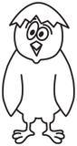 逗人喜爱动画片的鸡 免版税库存照片
