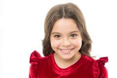 逗人喜爱和时髦 孩子时尚和秀丽 礼服女孩红色小 童年和幸福 愉快的儿童的天 beauvoir 免版税库存图片