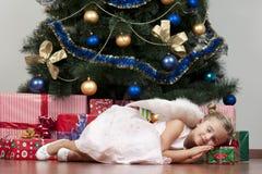 逗人喜爱天使的圣诞节 库存照片