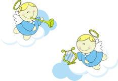 逗人喜爱天使的婴孩 库存图片