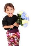 逗人喜爱女花童微笑 免版税图库摄影