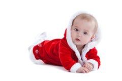 逗人喜爱婴孩的圣诞节 免版税图库摄影