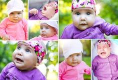 逗人喜爱婴孩的拼贴画 库存照片