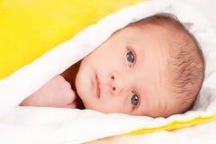 逗人喜爱婴孩的浴 免版税库存照片