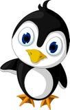 逗人喜爱小企鹅动画片摆在 免版税库存图片