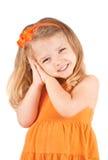 逗人喜爱小女孩微笑 免版税库存照片
