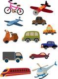 逗人喜爱汽车的动画片 库存图片