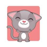 逗人喜爱灰色猫摆在 图库摄影