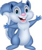 逗人喜爱灰鼠动画片挥动 库存照片