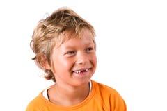逗人喜爱白肤金发的男孩 免版税库存照片