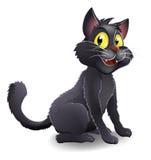 逗人喜爱的万圣夜巫婆猫动画片 库存图片