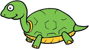 逗人喜爱的乌龟动画片例证 免版税图库摄影