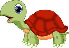 逗人喜爱的乌龟动画片 免版税库存照片