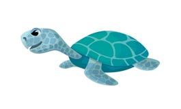 逗人喜爱的乌龟,被隔绝的动画片图象,传染媒介例证 库存照片