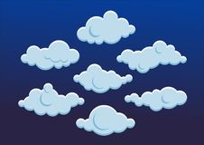 逗人喜爱的云彩 也corel凹道例证向量 库存图片
