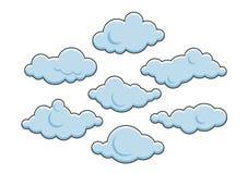 逗人喜爱的云彩 也corel凹道例证向量 免版税库存图片