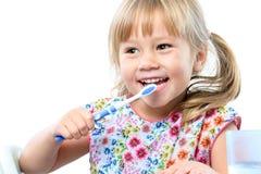 逗人喜爱的五岁的掠过的牙 免版税库存图片