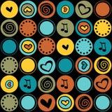逗人喜爱的五颜六色的无缝的模式 免版税库存照片
