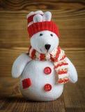 逗人喜爱的五颜六色的矮小的北极熊装饰 库存照片