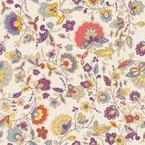 逗人喜爱的五颜六色的花卉无缝的样式 免版税库存图片