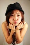 逗人喜爱的亚裔女孩 库存照片