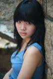 逗人喜爱的亚裔女孩 库存图片
