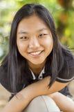 逗人喜爱的亚裔女孩 免版税库存图片