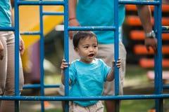 逗人喜爱的亚裔小男孩 免版税图库摄影